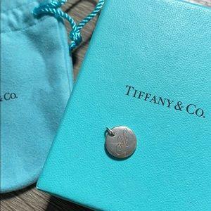 Tiffany H initial pendant